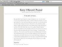 Sorry I Havn't Posted